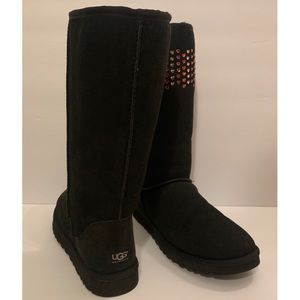 New Black Custom Ugg Boots with Swarovski Crystal